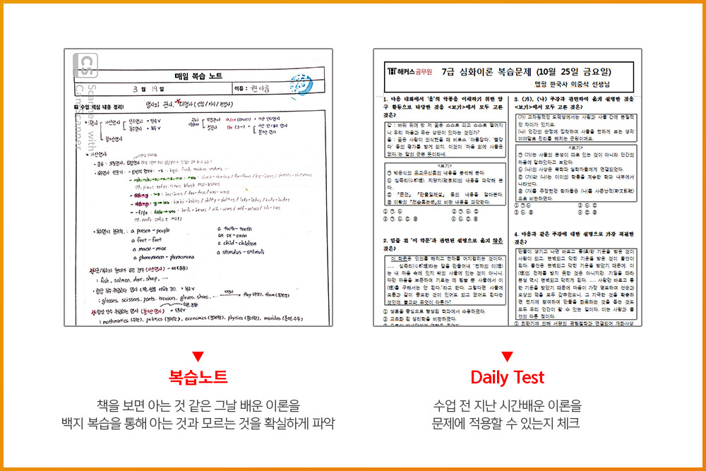 Daily Test/Monthly Test